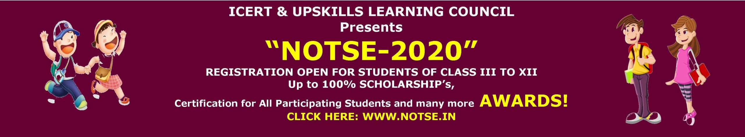 National Online Talent Search Exam - 2020 | NOTSE - 2020 | Awards & Recognition